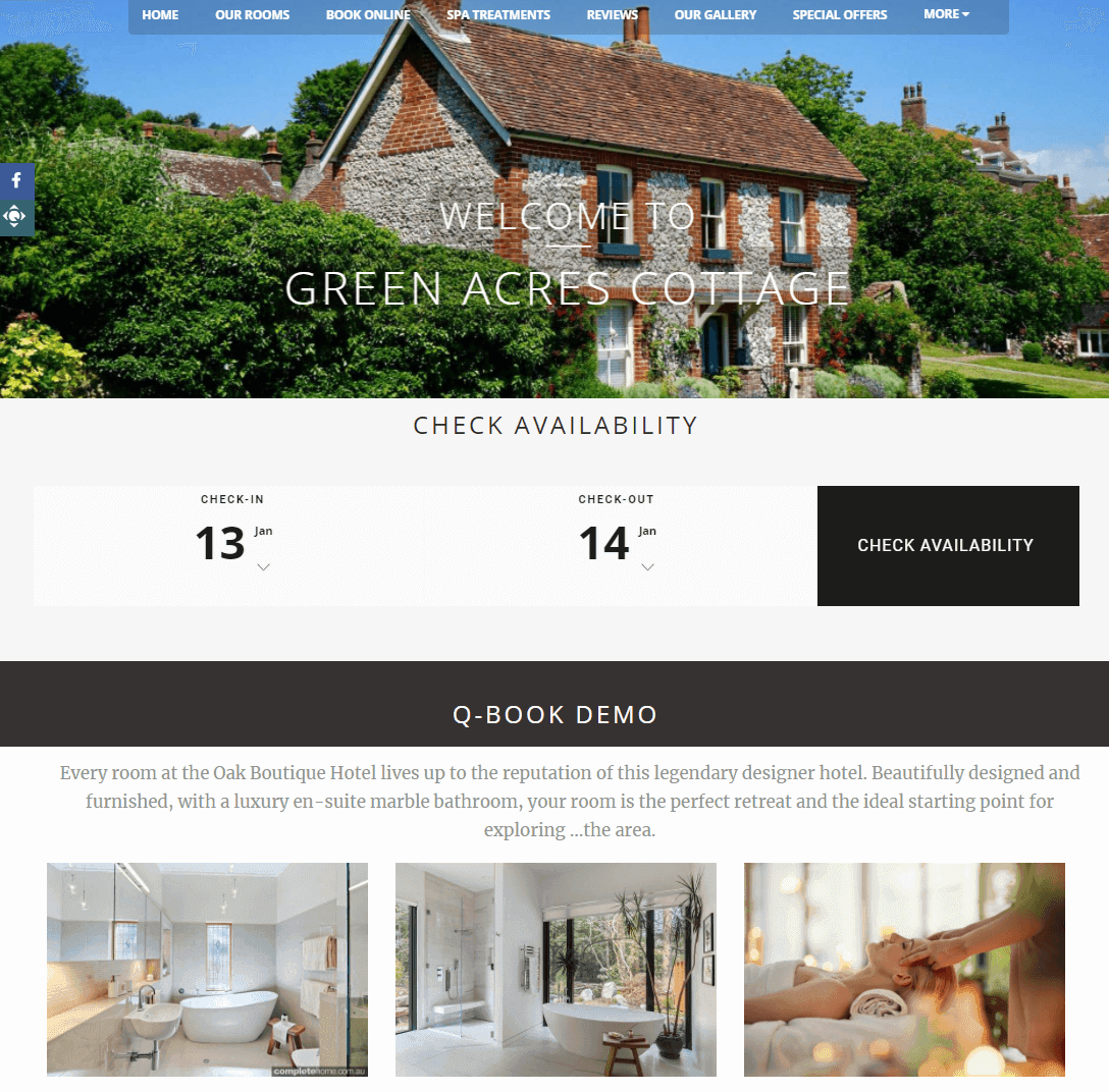Cottage Website Design