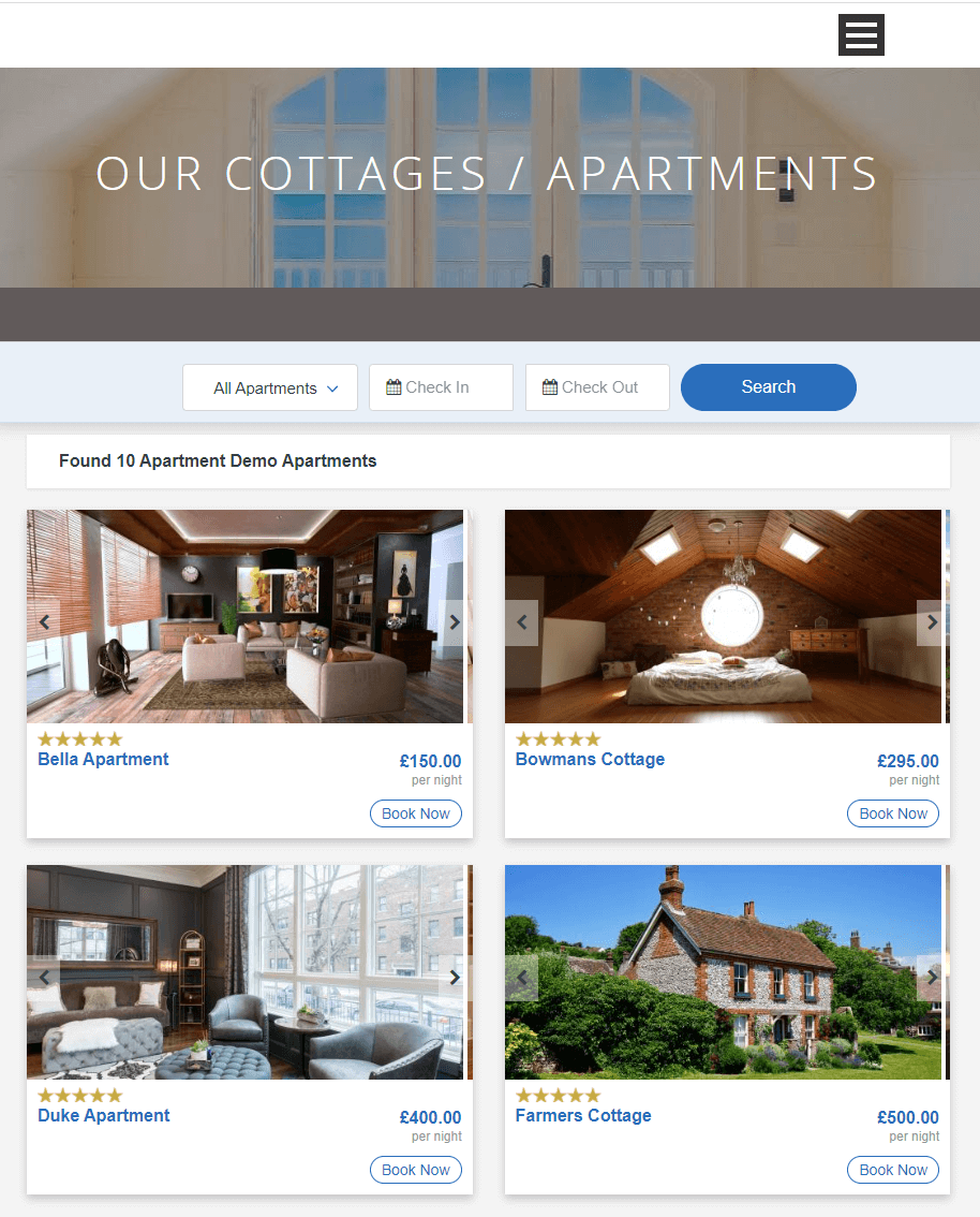 Website Design for Apartments